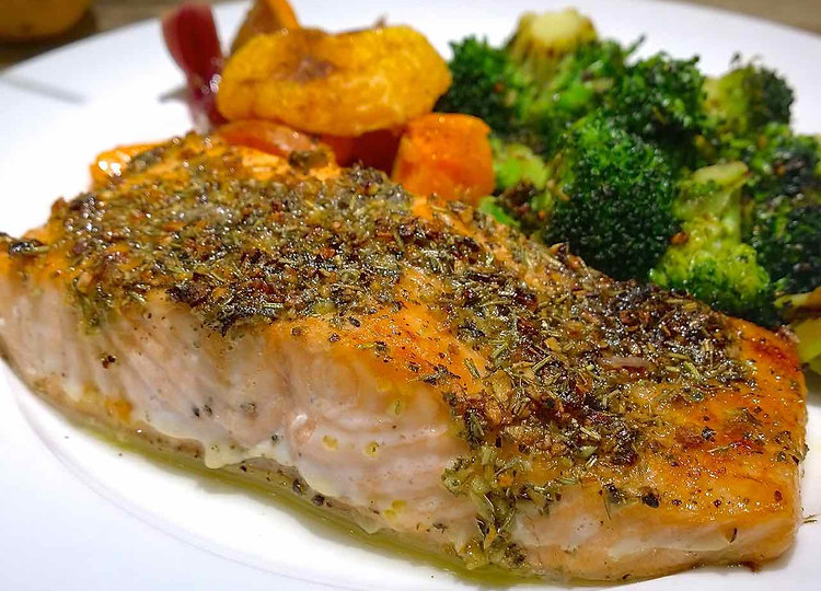 Easy Herb-Rubbed Cod Fillets