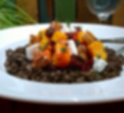 Beluga Lentils with Roasted Beets and Squash