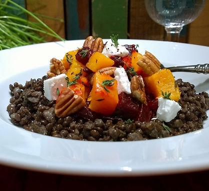 Beluga Lentils with Roasted Vegetables