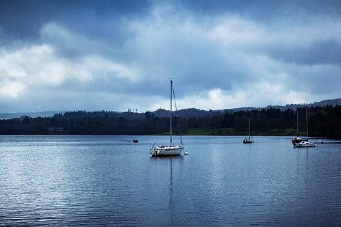 Lake District Boats Print