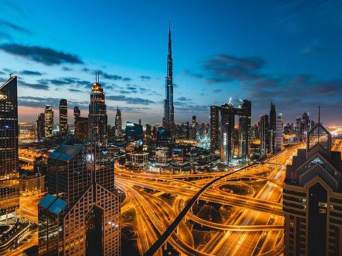 Dubai Cityscape Print