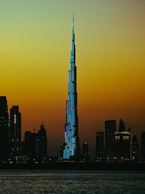Burj Khalifa Light Show Print