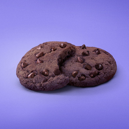 Milka Cookie CHOCOLATE ACOSTADA Mordida.