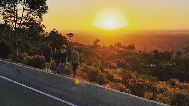 Summer sunsets from the Perth Hills 😍_�