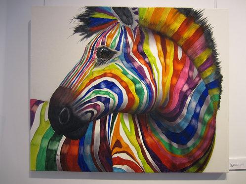 Original Rainbow Oil (90 x 90 cm)
