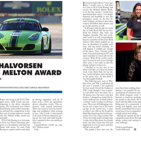 Club Member Carole Halvorsen Honored By PCA
