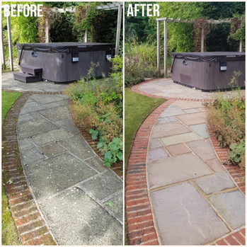 Pathway slabs and bricks - Before & Afte