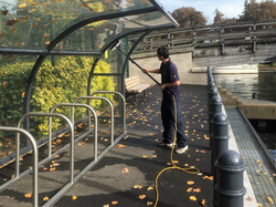 Glass shelter clean
