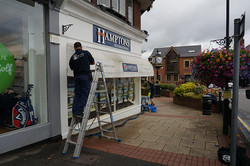 Shop front and glass cleaning