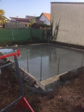 Construction d'un garage, avec création de dalle béton à Haguenau