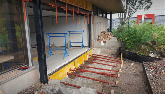 Création d'une terrasse béton à Reichstett