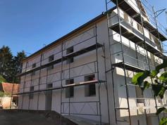 Isolation extérieure et mise en peinture d'un immeuble à Wingen-sur-Moder