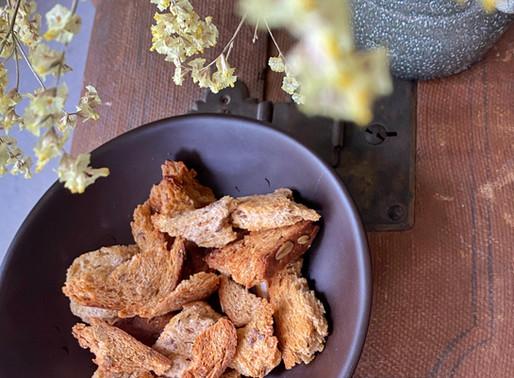 קרוטונים בריאים למרק וסלט