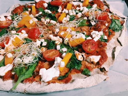 פיצה צבעונית ללא גלוטן