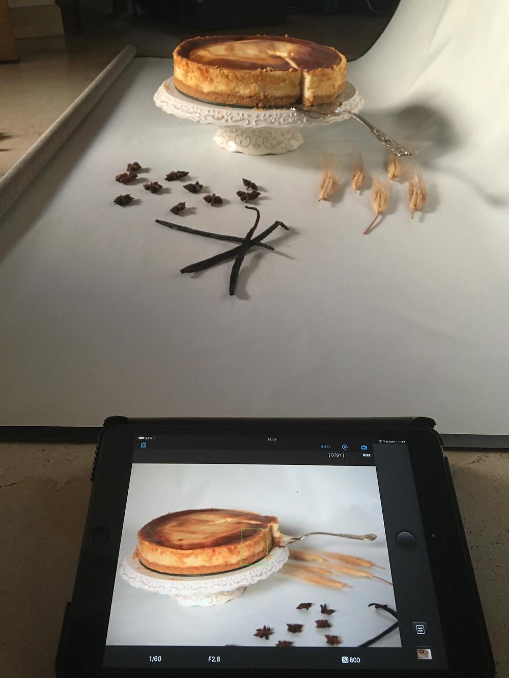 עוגת גבינה אפויה של עננים