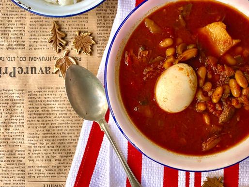 מרק שעועית בבישול ארוך