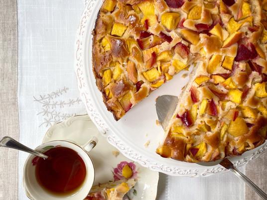 עוגת פירות קיץ ( וגם חורף)