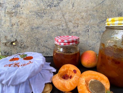ריבת משמש-חמוציות פרסיות-וניל-גי'נג'יר
