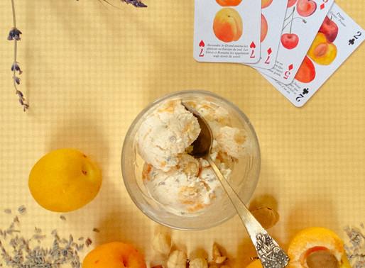 גלידת משמש - לוונדר - אגוזי לוז