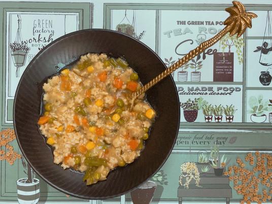 מרק ירקות וכוכביות כוסמין-  המרק הכי מהיר שיש
