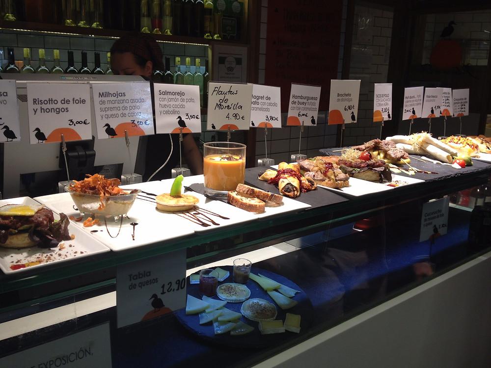 Tapas in madrid markets