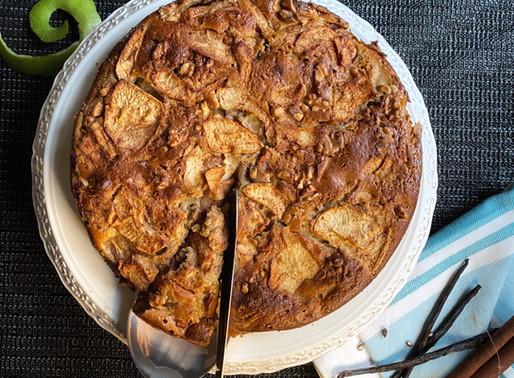 עוגת תפוחים דלת שומן