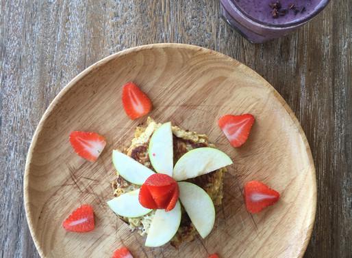 קרפים מקמח מלא עם פירות וגבינה