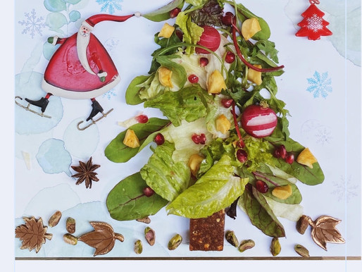 Christmas tree salad - סלט עץ כריסמס