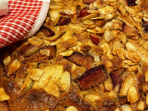 עוגת תפוחים - שזיפים