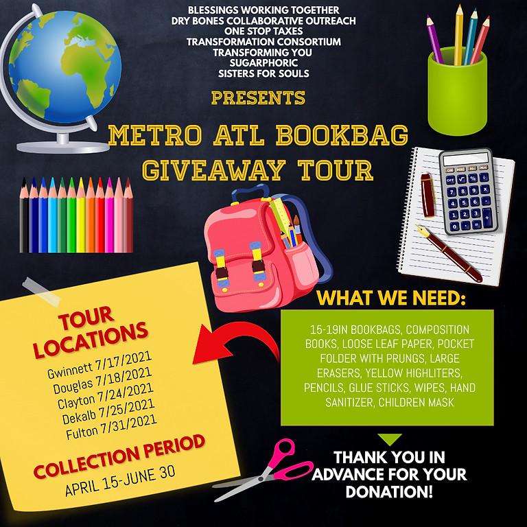 Metro ATL Bookbag Giveaway TOUR