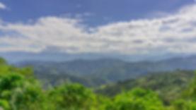 Panoramic of the mountains of Antioquia.