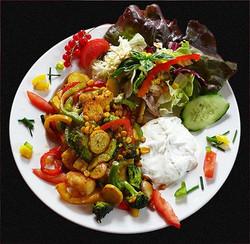 Gemüseteller mit Quark