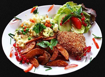 Hähnchenbrust im Kartoffelmantel