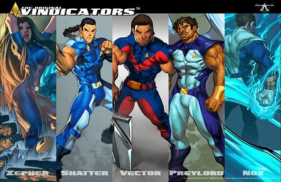 Original Vindicators Banner  Poster 11 X17