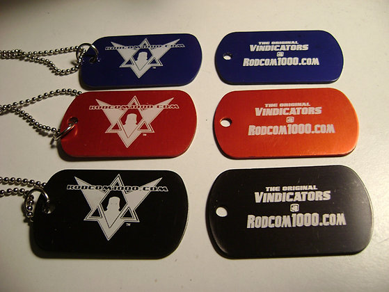The Original Vindicators Dog-Tags