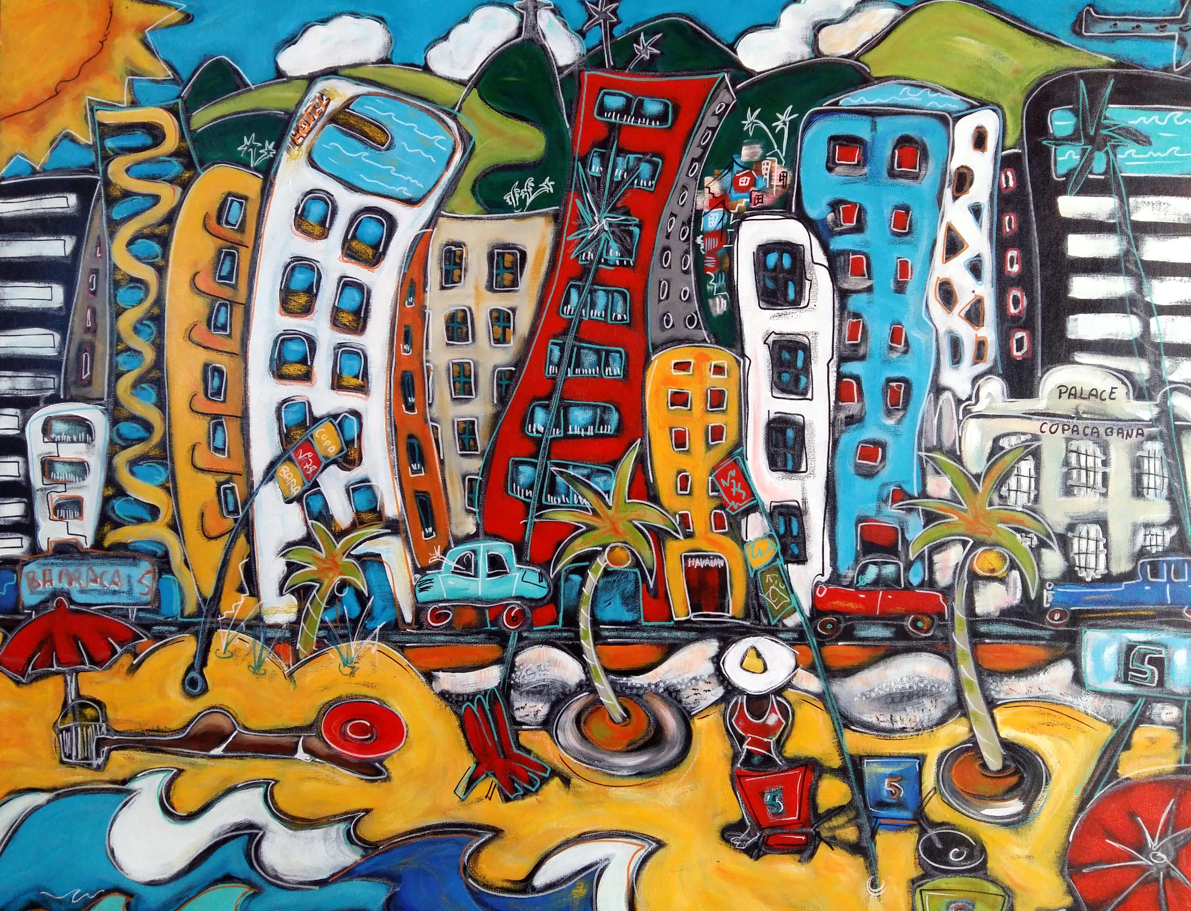 Au pied des favelas (40F)(vendu)
