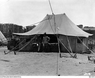 canteen tent Mansourah Egypt - June 1919