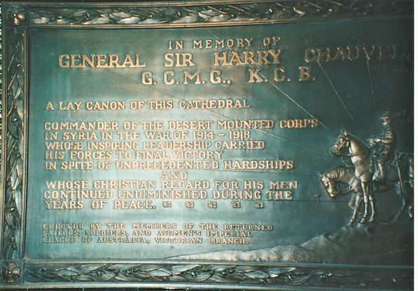 THE MEMORIAL TO CHAUVEL IN ST PAUL'S CAT
