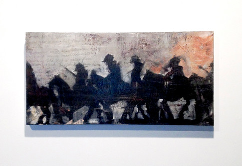 The Bloody Night March, 2008, Mixed Media on Canvas