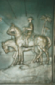 DETAIL OF THE MEMORIAL TO CHAUVEL IN ST
