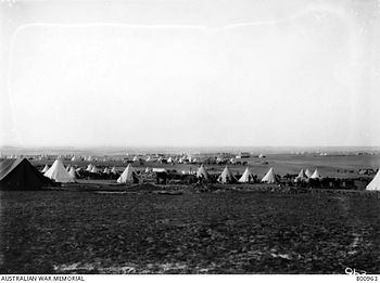 ANZAC Mtd Div camp Rafa Egypt Feb 1919 (
