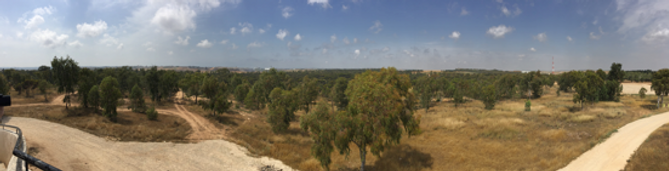 A panoramic photograph looking to Gaza from the memorial.png