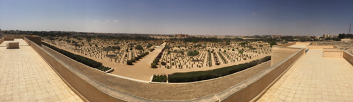 Panoramic photo of El Alamein from the t