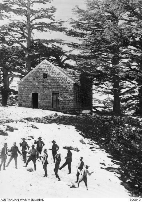 snowball fight  Jan 1919 Lebanon.JPG