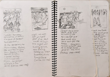 Visual Diary, Small Studies inspired by Ion Idriess Narratives