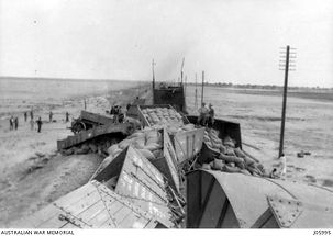 train wreck at Kassassin - 16 March 1919