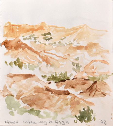 Negev - small study, Watercolour, 2008