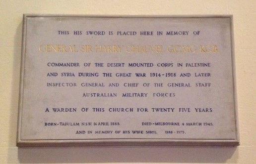 CHAUVEL MEMORIAL TABLET, CHRIST CHURCH S
