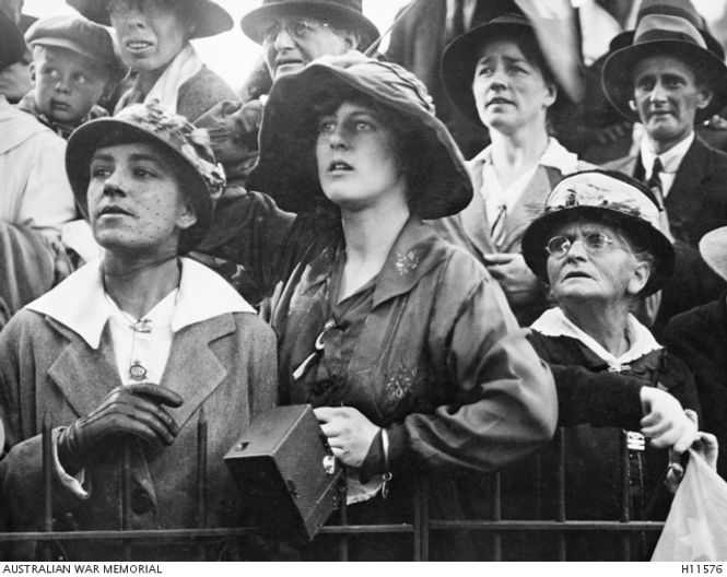 Waiting to see their loved ones - ANZAC