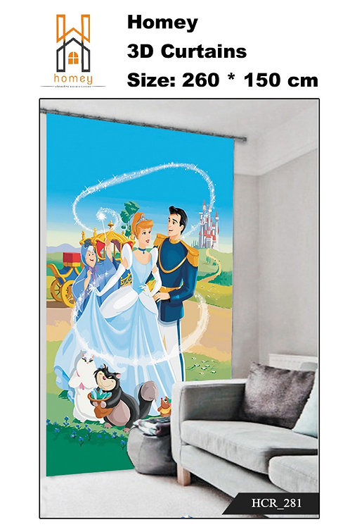 Single 3D curtain 300cm*260cm